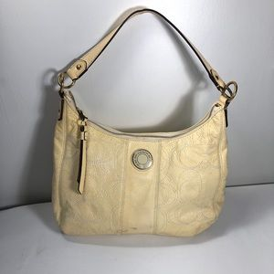 Coach Monogram  Leather Hobo Purse